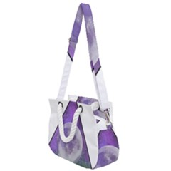 Form Triangle Moon Space Rope Handles Shoulder Strap Bag by HermanTelo