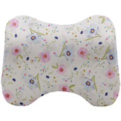Floral Pink Blue Head Support Cushion