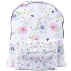 Floral Pink Blue Giant Full Print Backpack