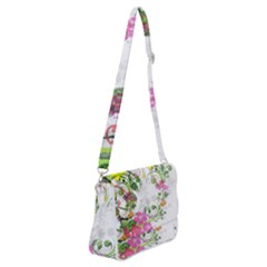 Flowers Floral Shoulder Bag With Back Zipper by HermanTelo