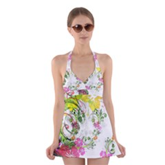Flowers Floral Halter Dress Swimsuit