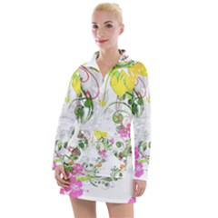 Flowers Floral Women s Long Sleeve Casual Dress