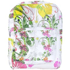 Flowers Floral Full Print Backpack