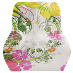 Flowers Floral Car Seat Back Cushion