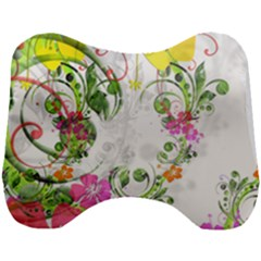 Flowers Floral Head Support Cushion