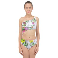 Flowers Floral Spliced Up Two Piece Swimsuit