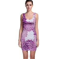 Floral Purple Bodycon Dress by HermanTelo