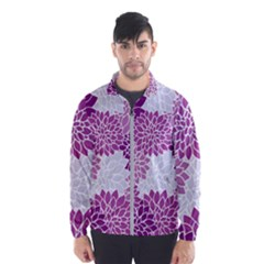 Floral Purple Men s Windbreaker