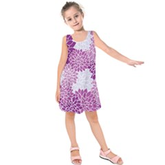 Floral Purple Kids  Sleeveless Dress