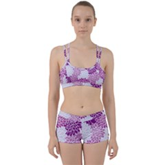 Floral Purple Perfect Fit Gym Set by HermanTelo