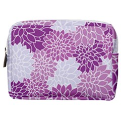 Floral Purple Make Up Pouch (medium)