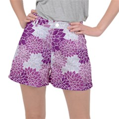 Floral Purple Ripstop Shorts