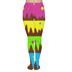 Illustration Abstract Graphic Rainbow Tights