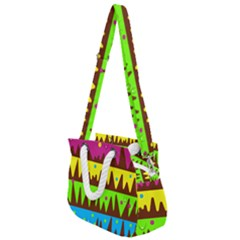 Illustration Abstract Graphic Rainbow Rope Handles Shoulder Strap Bag