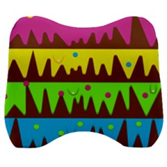 Illustration Abstract Graphic Rainbow Velour Head Support Cushion