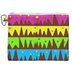 Illustration Abstract Graphic Rainbow Canvas Cosmetic Bag (xxl)