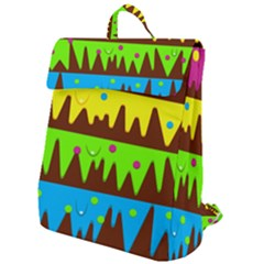 Illustration Abstract Graphic Rainbow Flap Top Backpack by HermanTelo