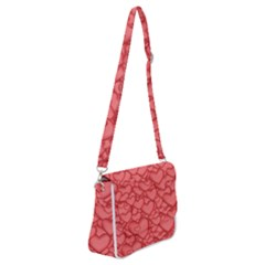 Hearts Love Valentine Shoulder Bag With Back Zipper