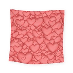 Hearts Love Valentine Square Tapestry (small) by HermanTelo