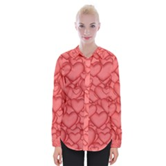 Hearts Love Valentine Womens Long Sleeve Shirt by HermanTelo