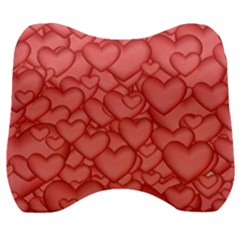 Hearts Love Valentine Velour Head Support Cushion
