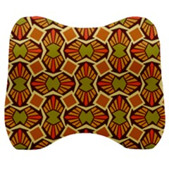 Geometry Shape Retro Velour Head Support Cushion