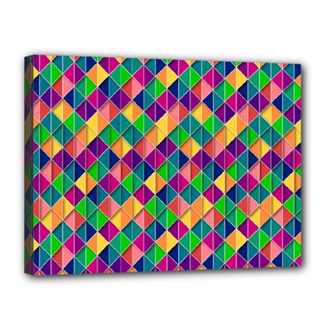 Geometric Triangle Canvas 16  X 12  (stretched)