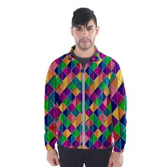 Geometric Triangle Men s Windbreaker