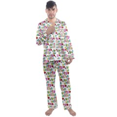 Holidays Happy Easter Men s Satin Pajamas Long Pants Set by HermanTelo
