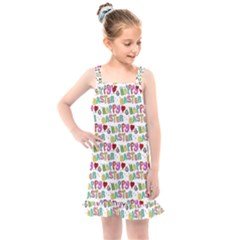 Holidays Happy Easter Kids  Overall Dress by HermanTelo