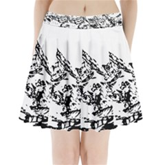 Mountain Ink Pleated Mini Skirt by HermanTelo