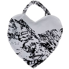Mountain Ink Giant Heart Shaped Tote by HermanTelo