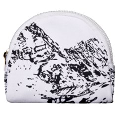 Mountain Ink Horseshoe Style Canvas Pouch by HermanTelo