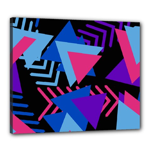 Memphis Pattern Geometric Abstract Canvas 24  X 20  (stretched)