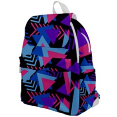 Memphis Pattern Geometric Abstract Top Flap Backpack by HermanTelo