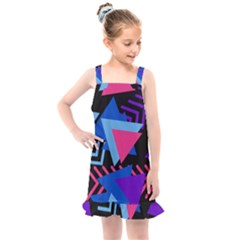 Memphis Pattern Geometric Abstract Kids  Overall Dress by HermanTelo