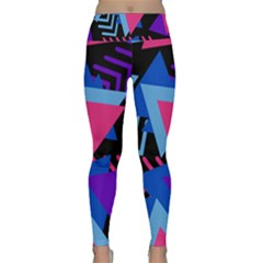 Memphis Pattern Geometric Abstract Lightweight Velour Classic Yoga Leggings