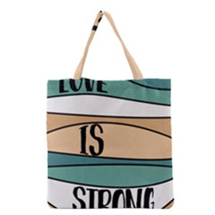 Love Sign Romantic Grocery Tote Bag by HermanTelo