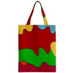 Liquid Forms Water Background Zipper Classic Tote Bag