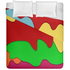 Liquid Forms Water Background Duvet Cover Double Side (california King Size) by HermanTelo