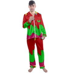 Liquid Forms Water Background Men s Satin Pajamas Long Pants Set