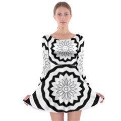 Mandala Long Sleeve Skater Dress