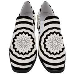 Mandala Slip On Heel Loafers by HermanTelo