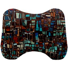 Mosaic Abstract Head Support Cushion