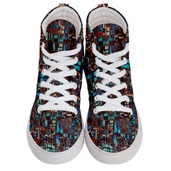 Mosaic Abstract Women s Hi-top Skate Sneakers