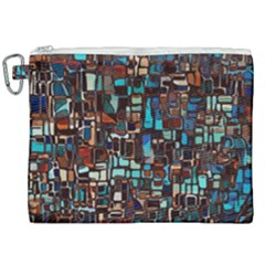 Mosaic Abstract Canvas Cosmetic Bag (xxl)