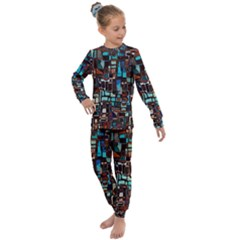 Mosaic Abstract Kids  Long Sleeve Set  by HermanTelo