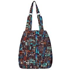 Mosaic Abstract Center Zip Backpack