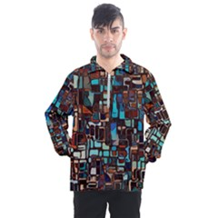 Mosaic Abstract Men s Half Zip Pullover