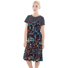 Mosaic Abstract Camis Fishtail Dress by HermanTelo